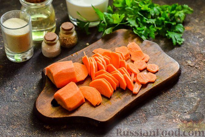 Фото приготовления рецепта: Сливочный суп  с мясными фрикадельками - шаг №3