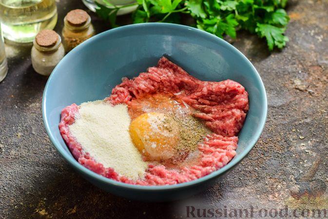 Фото приготовления рецепта: Сливочный суп  с мясными фрикадельками - шаг №7