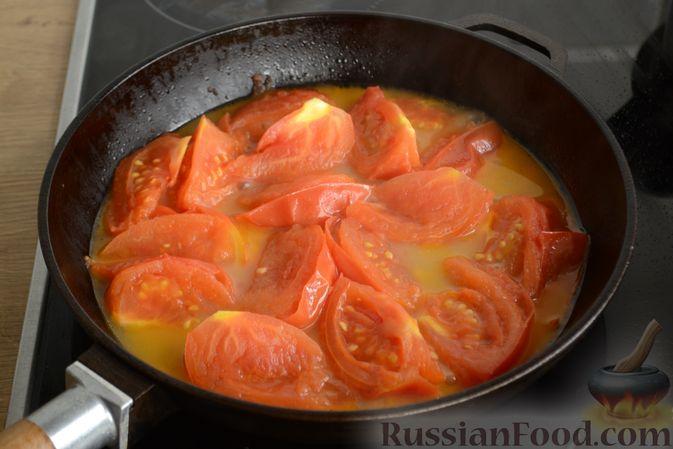 Фото приготовления рецепта: Куриный суп с помидорами и рисом - шаг №11