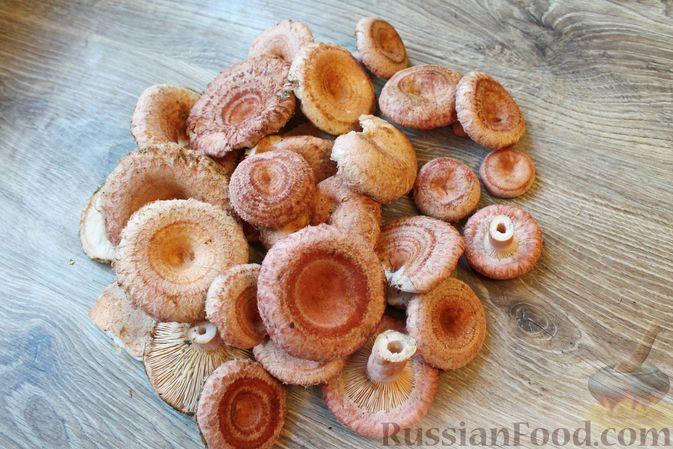Фото приготовления рецепта: Солёные волнушки (на зиму) - шаг №1