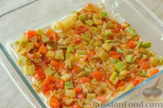 Фото приготовления рецепта: Овощная лазанья - шаг №17