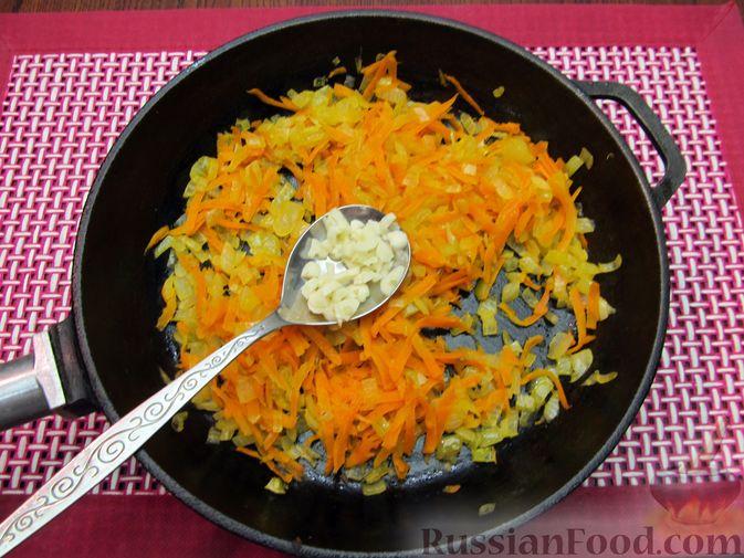 Фото приготовления рецепта: Суп из свинины с пшеном и помидорами - шаг №7