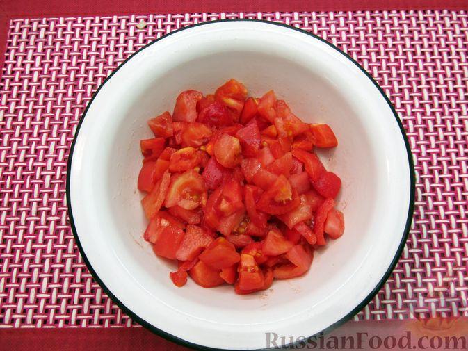 Фото приготовления рецепта: Суп из свинины с пшеном и помидорами - шаг №14