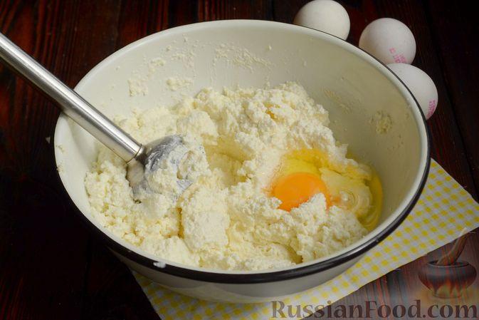 """Фото приготовления рецепта: Кофейно-ванильная творожная запеканка """"Зебра"""" - шаг №3"""