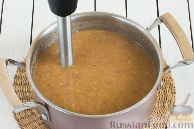 Фото приготовления рецепта: Чечевичный суп-пюре с помидорами - шаг №8
