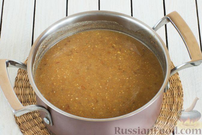 Фото приготовления рецепта: Чечевичный суп-пюре с помидорами - шаг №10