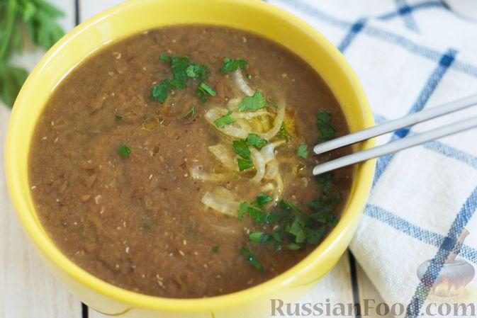Фото приготовления рецепта: Чечевичный суп-пюре с помидорами - шаг №11