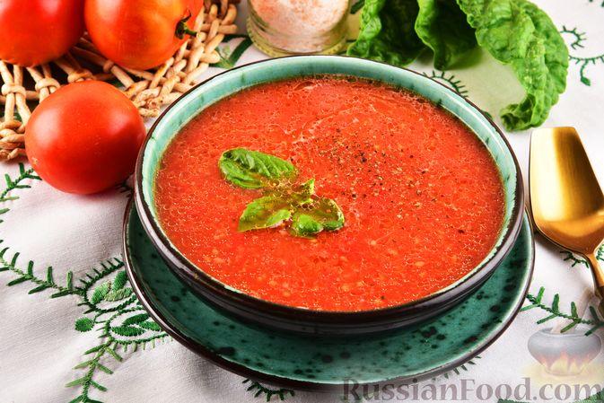 Фото приготовления рецепта: Томатный суп-пюре с перцем чили - шаг №8