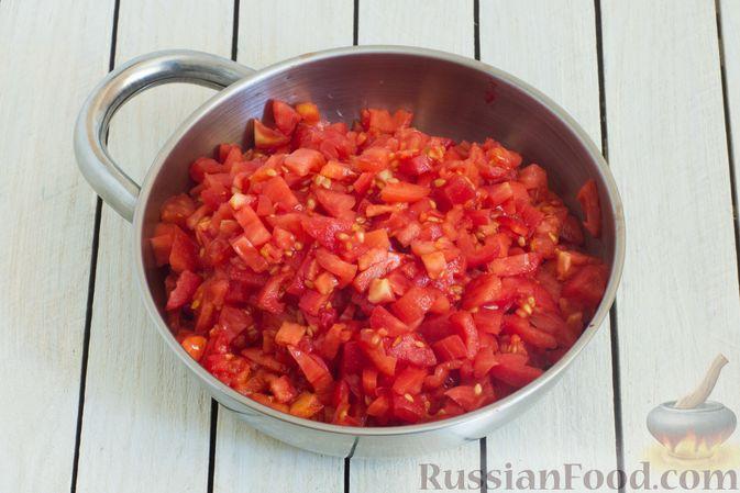 Фото приготовления рецепта: Баклажаны с помидорами, перцем и луком - шаг №9