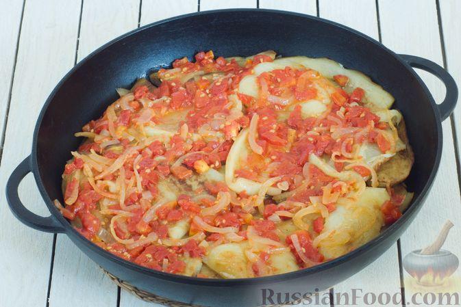 Фото приготовления рецепта: Баклажаны с помидорами, перцем и луком - шаг №16