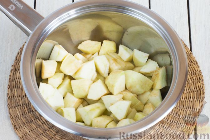 Фото приготовления рецепта: Яблочно-апельсиновый джем - шаг №2