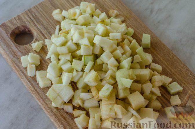 Фото приготовления рецепта: Песочный тарт с яблоками и орехами - шаг №8