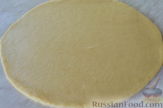 Фото приготовления рецепта: Песочный тарт с яблоками и орехами - шаг №12