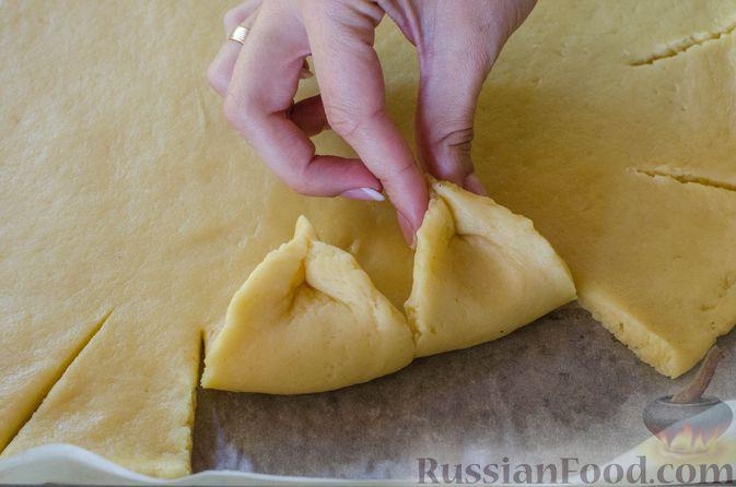 Фото приготовления рецепта: Песочный тарт с яблоками и орехами - шаг №15