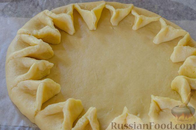 Фото приготовления рецепта: Песочный тарт с яблоками и орехами - шаг №16