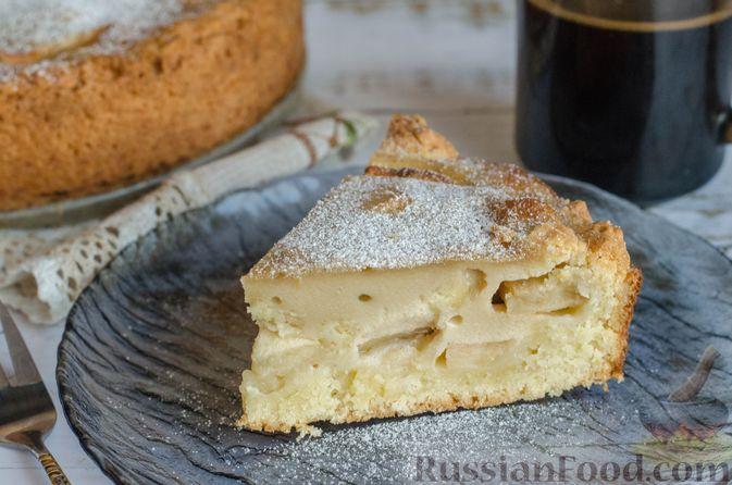 Фото к рецепту: Яблочный пирог с карамелью