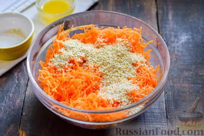 Фото приготовления рецепта: Десерт из моркови с курагой, овсяными хлопьями и семечками - шаг №3