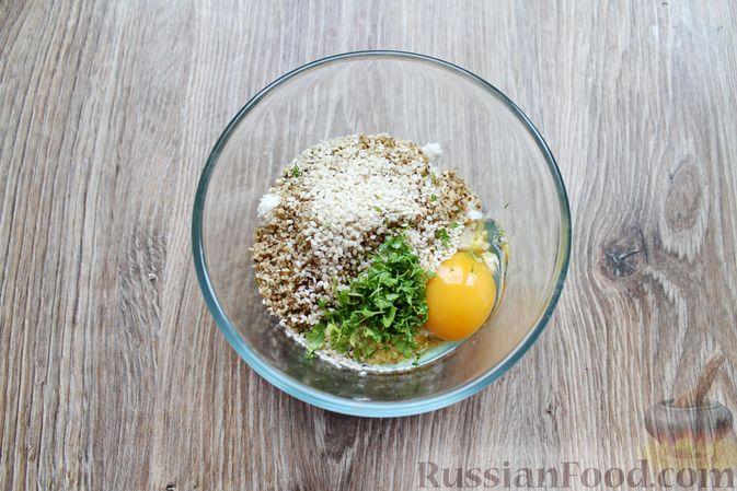 Фото приготовления рецепта: Баклажаны, фаршированные сыром и орехами - шаг №7