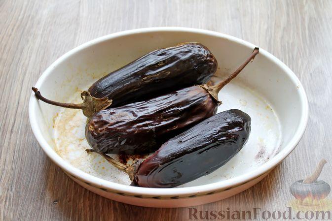 Фото приготовления рецепта: Баклажаны, фаршированные сыром и орехами - шаг №2