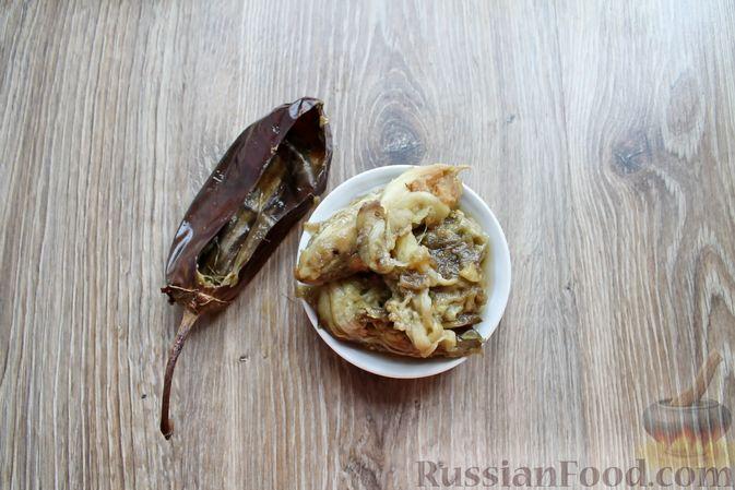 Фото приготовления рецепта: Баклажаны, фаршированные сыром и орехами - шаг №11
