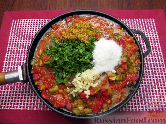 Фото приготовления рецепта: Томатный релиш с маринованными огурцами - шаг №10