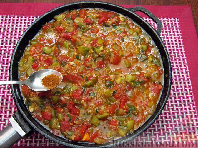 Фото приготовления рецепта: Томатный релиш с маринованными огурцами - шаг №11