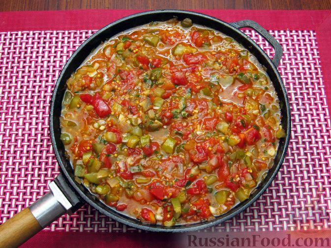 Фото приготовления рецепта: Томатный релиш с маринованными огурцами - шаг №12