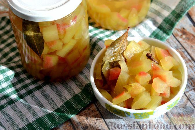 Фото к рецепту: Маринованные арбузные корки на зиму