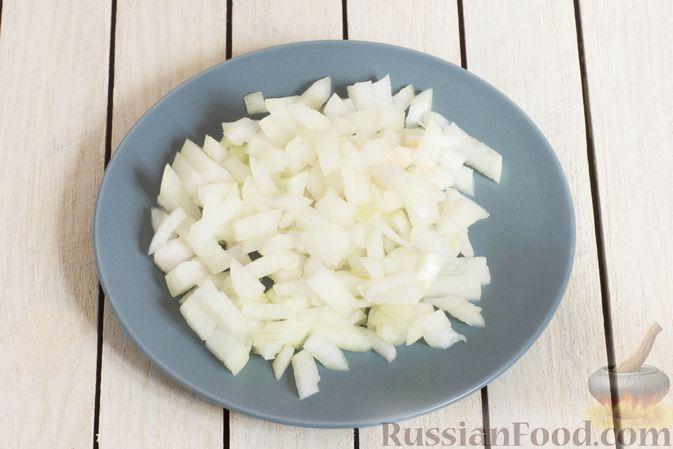 Фото приготовления рецепта: Морковное пюре с луком и пряностями - шаг №4