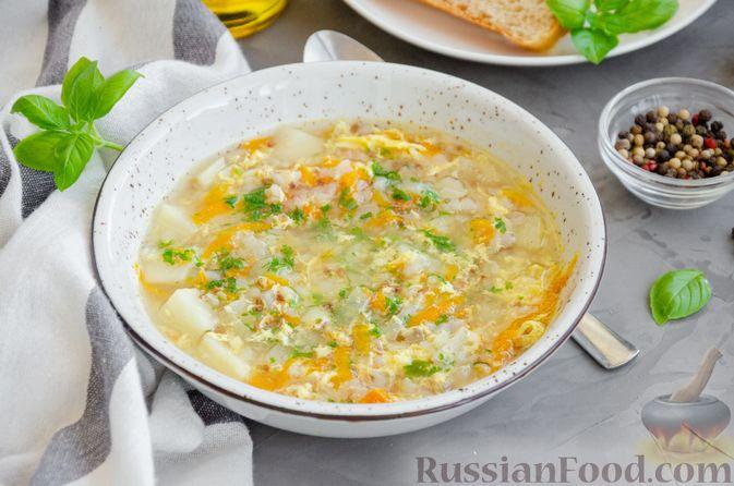 Фото к рецепту: Гречневый суп с яичной заправкой