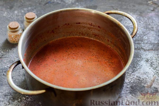 Фото приготовления рецепта: Пряный свекольный крем-суп с обжаренным нутом - шаг №13