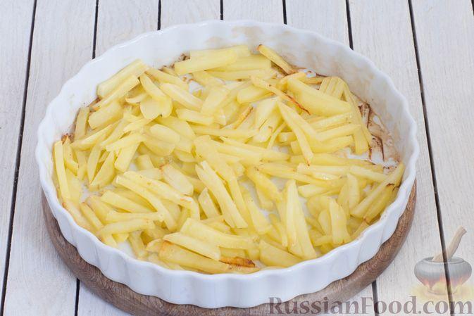 Фото приготовления рецепта: Овощное рагу со свёклой, маринованными огурцами и картофелем - шаг №3