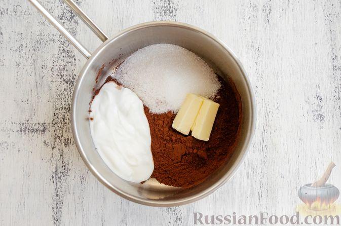 Фото приготовления рецепта: Шоколадные пирожные с зефиром - шаг №12
