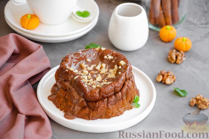 Фото приготовления рецепта: Шоколадно-тыквенное суфле с пряностями и ганашем - шаг №18