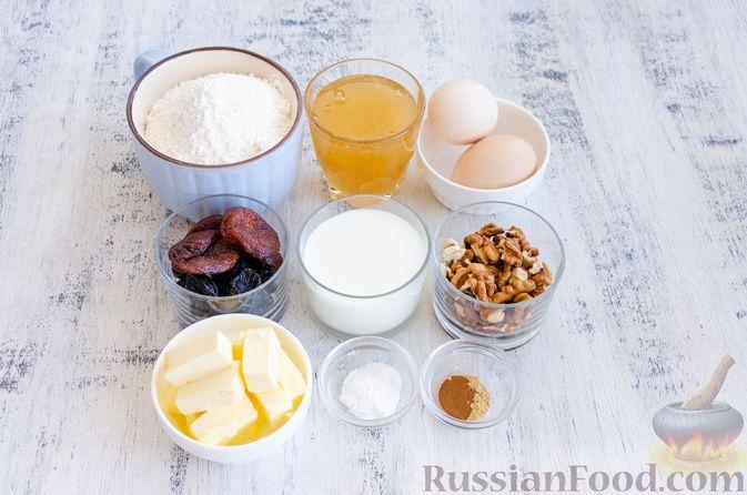 Фото приготовления рецепта: Медовый кекс с сухофруктами, орехами и пряностями (без сахара) - шаг №1