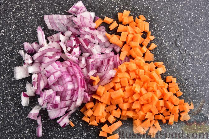 Фото приготовления рецепта: Овощной суп с тыквой и чечевицей - шаг №4