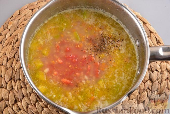 Фото приготовления рецепта: Овощной суп с тыквой и чечевицей - шаг №11
