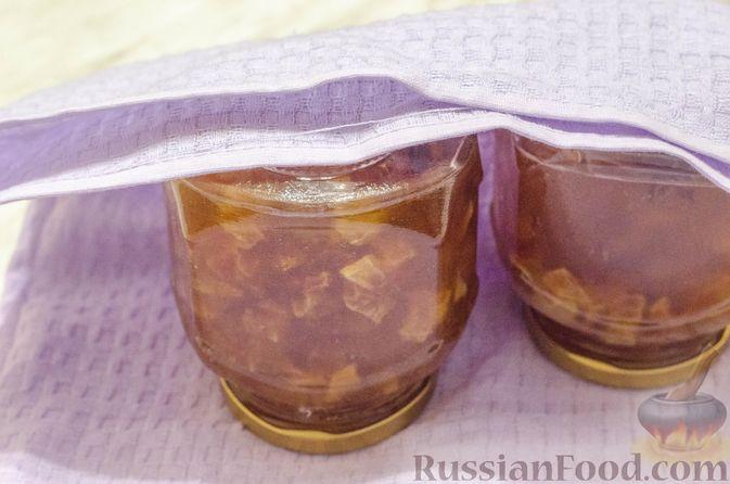 Фото приготовления рецепта: Грушево-яблочное варенье с пряностями (на зиму) - шаг №12