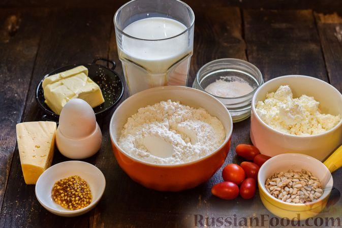 Фото приготовления рецепта: Творожно-сырные маффины с помидорками черри - шаг №1