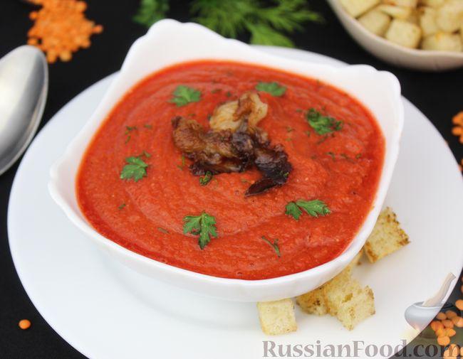 Фото приготовления рецепта: Суп-пюре из свёклы и чечевицы - шаг №12