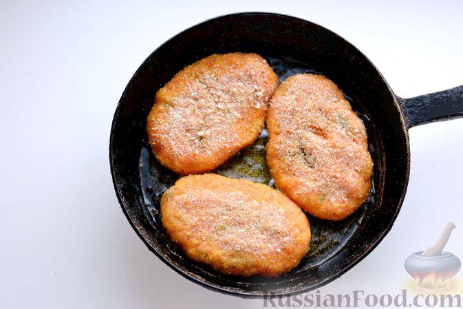 Фото приготовления рецепта: Тыквенные зразы с мясным фаршем - шаг №19