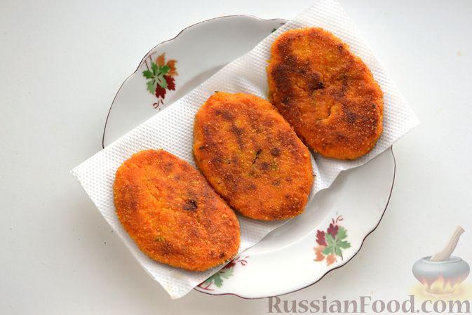 Фото приготовления рецепта: Тыквенные зразы с мясным фаршем - шаг №21