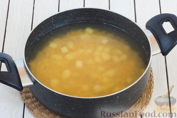 Фото приготовления рецепта: Постный борщ с чечевицей - шаг №8