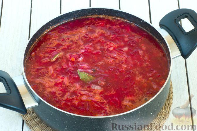 Фото приготовления рецепта: Постный борщ с чечевицей - шаг №10