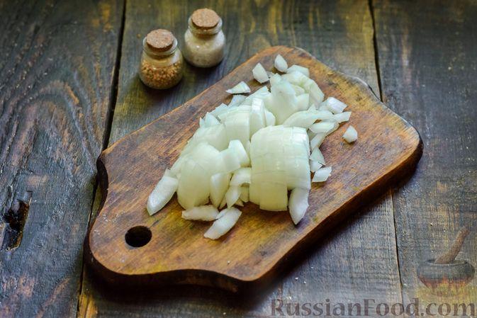 Фото приготовления рецепта: Овощной суп из тыквы и цветной капусты с сырно-яичной заправкой - шаг №4
