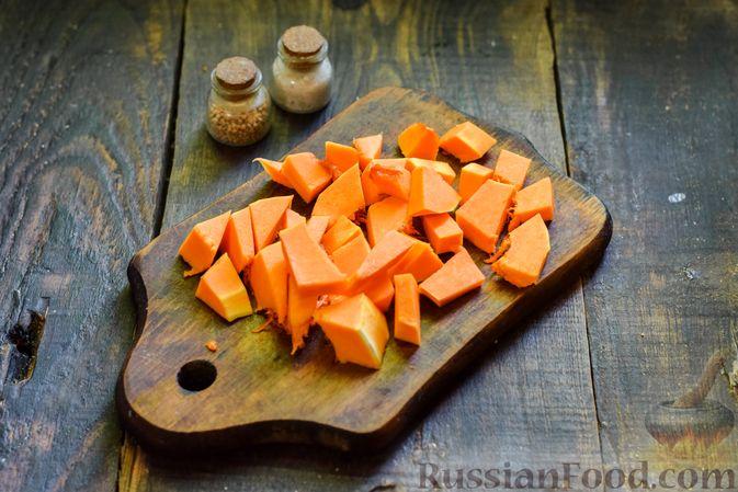 Фото приготовления рецепта: Овощной суп из тыквы и цветной капусты с сырно-яичной заправкой - шаг №6