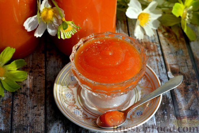 Фото к рецепту: Яблочно-тыквенный джем с апельсином и корицей