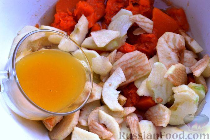 Фото приготовления рецепта: Яблочно-тыквенный джем с апельсином и корицей - шаг №8