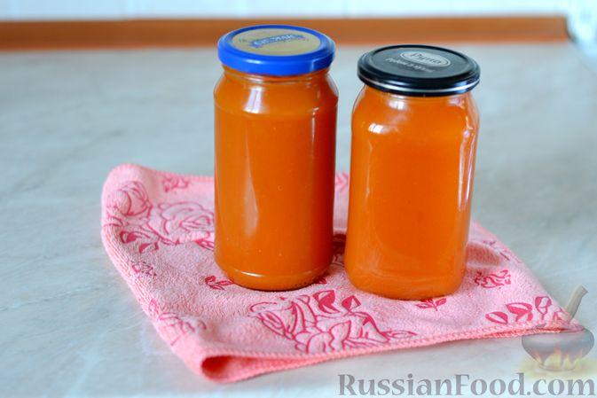Фото приготовления рецепта: Яблочно-тыквенный джем с апельсином и корицей - шаг №14
