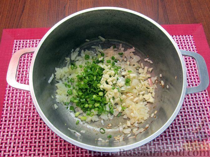 Фото приготовления рецепта: Суп из зеленых помидоров с копченой грудинкой - шаг №8